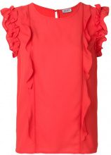Liu Jo - Blusa con ruches sulle maniche - women - Polyester - 42, 46 - YELLOW & ORANGE