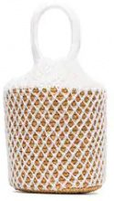 Sensi Studio - White straw and net bucket bag - women - Straw - OS - Bianco