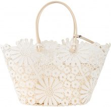 Borsa shopper con fiori (Beige) - bpc bonprix collection