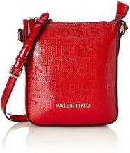 Mario Valentino VBS2C208, Borsa a tracolla Donna, Rosso (Rosso (Rosso 003)), 2.5x21.0x18.0 cm (B x H x T)
