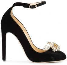 Chloe Gosselin - Pumps con cinturino 'Helix' - women - Velvet/Leather - 36, 38, 40 - Nero