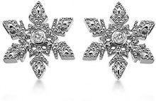 Lily and Lotty - Orecchini a lobo da donna con diamante (0,0050 ct), argento sterling 925, cod. 0.01.0023