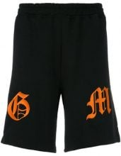 Omc - embroidered track shorts - men - Cotton - M, XL, XS, S, L, XXL - BLACK