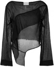 - Lost & Found Rooms - Blusa a maniche lunghe - women - Cotone - XS , L - Nero