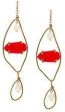 - Marni - Orecchini pendenti - women - Pearls/metal/Resin - Taglia Unica - Rosso
