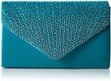 SwankySwansAbby Diamante Envelope Style Bag - Sacchetto donna