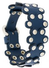 Red Valentino - Bracciale 'Flower Puzzle' - women - Leather - OS - BLUE
