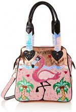 Irregular Choice Longer Legs - Borse a mano Donna, Multicolore (Gold/pink), 16x30x32 cm (W x H L)