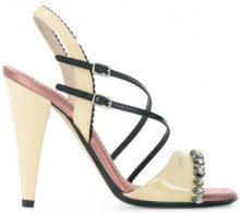 Nº21 - Sandali decorati - women - Calf Leather/Patent Leather/Silk/Leather - 36, 37, 38, 38.5, 40, 41 - Giallo & arancio