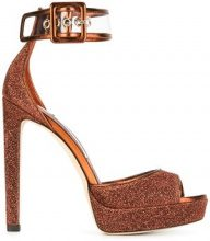 Jimmy Choo - Sandali 'Mayner 130' - women - Goat Skin/Leather - 37.5, 39, 39.5, 38.5 - YELLOW & ORANGE