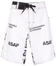 Osklen - Manifesto swim shorts - men - Polyester - 38, 40, 42, 44, 46 - Bianco