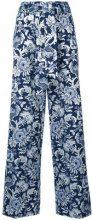 - Christian Pellizzari - Pantaloni dritti - women - cotone/fibra sintetica - 42 - di colore blu