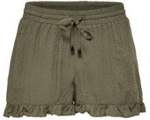 ONLY Frill Shorts Women Green