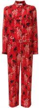 Red Valentino - Tuta con motivo a fiori - women - Silk/Cotton/Polyester/Acetate - 38, 40, 42 - RED