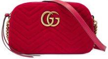 Gucci - GG Marmont velvet small shoulder bag - women - Velvet/Leather/Satin - One Size - RED