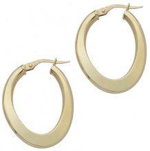 E-10924 - Orecchini a cerchio da donna, oro giallo 18k (750)