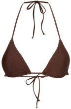 Matteau - Top bikini a triangolo - women - Nylon/Spandex/Elastane - 6, 8, 10, 12 - Marrone