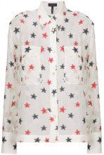 Rag & Bone - Camicia con stelle ricamate - women - Silk/Polyester - L, S, M - WHITE