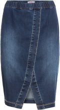 Gonna in jeans morbido con elastico (Blu) - John Baner JEANSWEAR