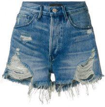3X1 - Pantaloni corti 'Carter' - women - Cotone - 26, 27 - BLUE