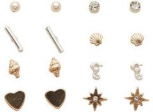 ONLY 8-pack Earrings Women Gold