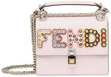 Fendi - Borsa Kan I - women - Calf Leather/Polyester/Polyurethane/Acrylonitrile Butadiene Styrene (ABS) - One Size - PINK & PURPLE