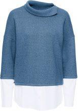 Pullover con camicia finta (Blu) - BODYFLIRT