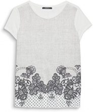 ESPRIT Collection 127eo1k012, T-Shirt Donna, Bianco (Off White 110), X-Large