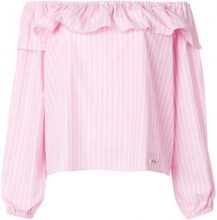 Miu Miu - Blusa con spalle scoperte - women - Cotton - 40, 42, 44 - WHITE
