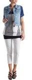 Fiorella Rubino: gilet in jeans con strappi. Plus size