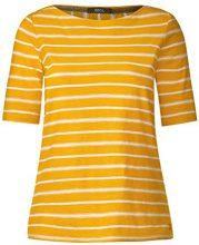 Cecil 311867, T-Shirt Donna, Gelb (Golden Lemonade 21197), XS