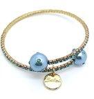 910332G Bijoux Bracciale da Donna Rigido con Perle Sintetiche