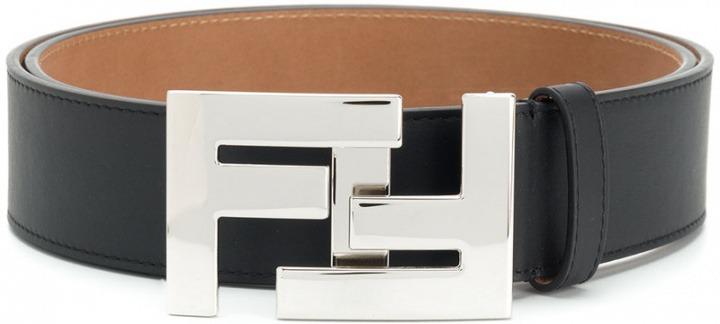 7dbbcd97e6 Fendi - Cintura con fibbia doppia F - men - Calf Leather - 85 ...