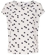 ONLY Printed Short Sleeved Top Women White