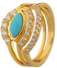 Set di 3 anelli con pietre naturali