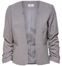 ONLY Solid Colored Blazer Women Grey