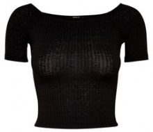 ONLY Cropped Short Sleeved Top Women Black