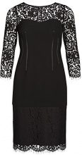 APART Fashion Kleid, Vestito Donna, (Schwarz 0), 42