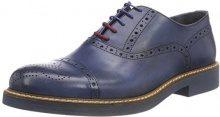 Pollini M.Shoe, Scarpe Stringate Brouge Uomo, Blu (Jeans 707), 44 EU