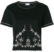 Red Valentino - Top con ricamo - women - Cotton/Polyester - M, L - BLACK