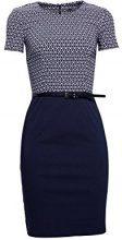 ESPRIT Collection 998eo1e801, Vestito Elegante Donna, Blu (Navy 400), 44 (Taglia Produttore: 38)