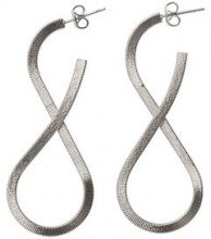 PIECES Detailed Earrings Women Silver