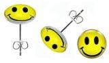 Orecchini in modalità in acciaio inossidabile–Smile simbolo