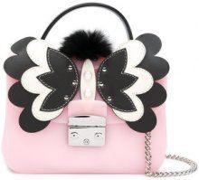 Furla - appliquéd Candy Metropolis crossbody bag - women - PVC - One Size - PINK & PURPLE