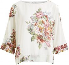 VILA Flower Patterned 3/4 Sleeved Top Women White