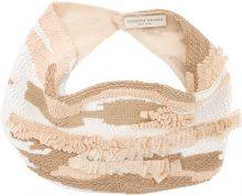 Mignonne Gavigan - beaded ruffle necklace - women - Acetate - OS - BROWN