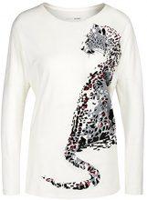 Marc Cain Sports HS 48.44 J13, T-Shirt Donna, Mehrfarbig (Off-White 110), 40 (N1/40)