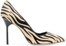 Manolo Blahnik - Pumps 'BB' - women - Calf Leather/Goat Skin/Calf Hair - 34.5, 35, 35.5, 36, 37, 38, 40, 40.5, 41 - Multicolore
