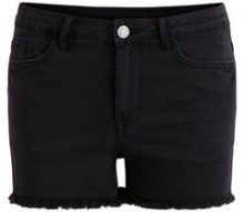 VILA Cut Off Denim Shorts Women Black