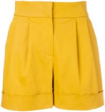 Alberta Ferretti - Shorts a vita alta - women - Cotton/Acetate/Cupro/other fibers - 40 - YELLOW & ORANGE